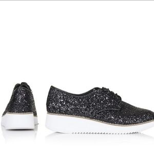 EUC Topshop Fliss glitter platform shoes